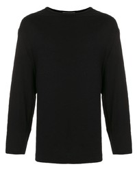Мужская черная футболка с длинным рукавом от Yohji Yamamoto