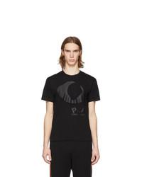 Мужская черная футболка с круглым вырезом с принтом от Comme Des Garcons Play