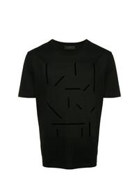 Мужская черная футболка с круглым вырезом с принтом от D'urban