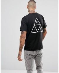 Мужская черная футболка с круглым вырезом с принтом от HUF