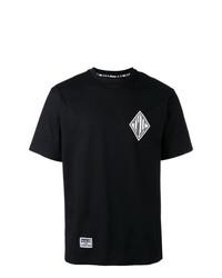 Мужская черная футболка с круглым вырезом с принтом от Ktz