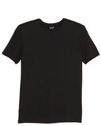 Черная футболка с круглым вырезом