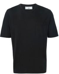 Мужская черная футболка с круглым вырезом от AMI Alexandre Mattiussi