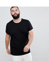 Мужская черная футболка с круглым вырезом от ASOS DESIGN