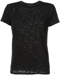 Женская черная футболка с круглым вырезом от ATM Anthony Thomas Melillo