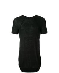 Мужская черная футболка с круглым вырезом от Bernhard Willhelm