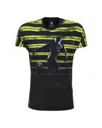 Мужская черная футболка с круглым вырезом от Bikkembergs