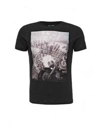 Мужская черная футболка с круглым вырезом от BLEND