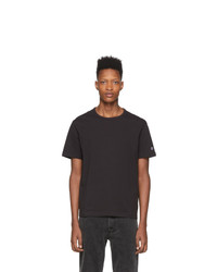 Мужская черная футболка с круглым вырезом от Champion Reverse Weave