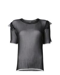 Женская черная футболка с круглым вырезом от Comme Des Garçons Noir Kei Ninomiya