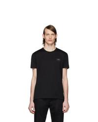 Мужская черная футболка с круглым вырезом от Dolce and Gabbana