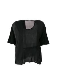 Женская черная футболка с круглым вырезом от Elsa Esturgie