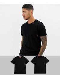 Мужская черная футболка с круглым вырезом от Hugo