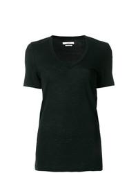 Женская черная футболка с круглым вырезом от Isabel Marant Etoile