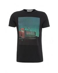Мужская черная футболка с круглым вырезом от Jack & Jones