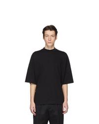 Мужская черная футболка с круглым вырезом от Jil Sander