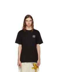 Мужская черная футболка с круглым вырезом от Loewe