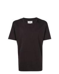 Мужская черная футболка с круглым вырезом от Maison Margiela