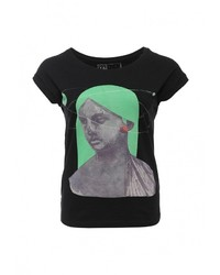 Женская черная футболка с круглым вырезом от Medicine