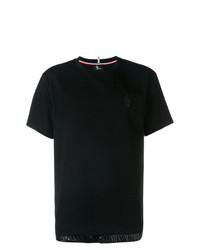 Мужская черная футболка с круглым вырезом от MONCLER GRENOBLE