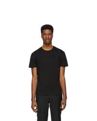 Мужская черная футболка с круглым вырезом от Moncler