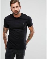 Мужская черная футболка с круглым вырезом от Original Penguin