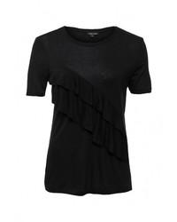 Женская черная футболка с круглым вырезом от River Island