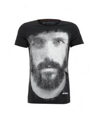 Мужская черная футболка с круглым вырезом от Strellson