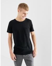 Мужская черная футболка с круглым вырезом от Tom Tailor