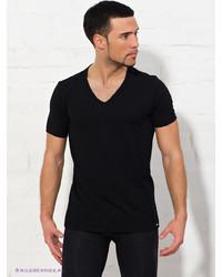 Мужская черная футболка с v-образным вырезом от BlackSpade