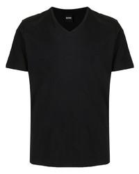 Мужская черная футболка с v-образным вырезом от BOSS