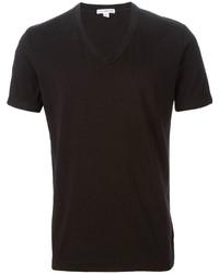 Мужская черная футболка с v-образным вырезом от James Perse