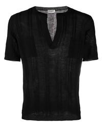 Мужская черная футболка с v-образным вырезом от Saint Laurent