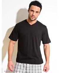 Мужская черная футболка с v-образным вырезом от Torro