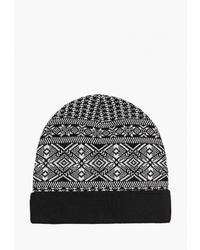 Мужская черная шапка с принтом от Airobika