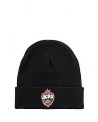 Мужская черная шапка с принтом от Atributika & Club™