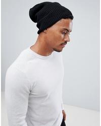 Мужская черная шапка от ASOS DESIGN