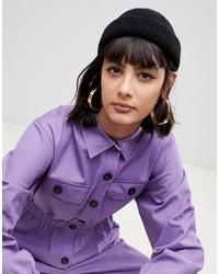 Женская черная шапка от ASOS DESIGN
