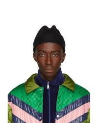 Мужская черная шапка от Gucci