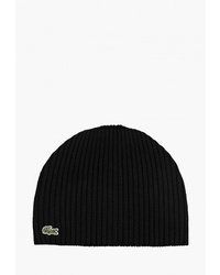 Мужская черная шапка от Lacoste
