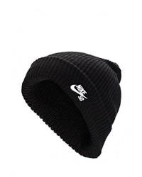 Женская черная шапка от Nike