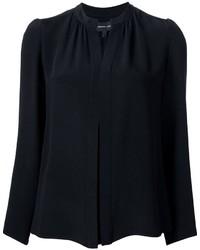 Женская черная шелковая рубашка от Derek Lam