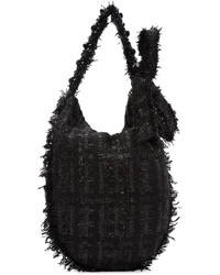 Черная шерстяная большая сумка