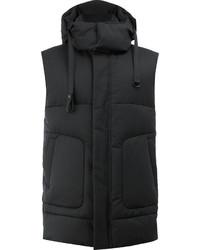 Мужская черная шерстяная куртка без рукавов от Juun.J