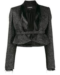 Женская черная шерстяная куртка с украшением от Ann Demeulemeester