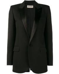 Женская черная шерстяная куртка от Saint Laurent