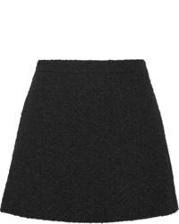 Черная шерстяная мини-юбка