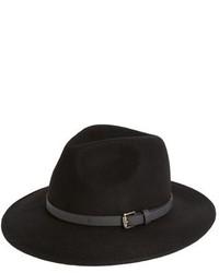 Черная шерстяная шляпа