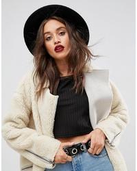 Женская черная шерстяная шляпа от ASOS DESIGN