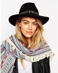 Женская черная шерстяная шляпа от Asos